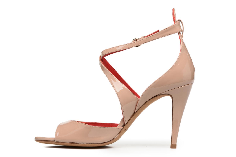 Sandals Pura Lopez Irina Beige front view
