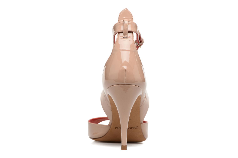 Sandali e scarpe aperte Pura Lopez Irina Beige immagine destra
