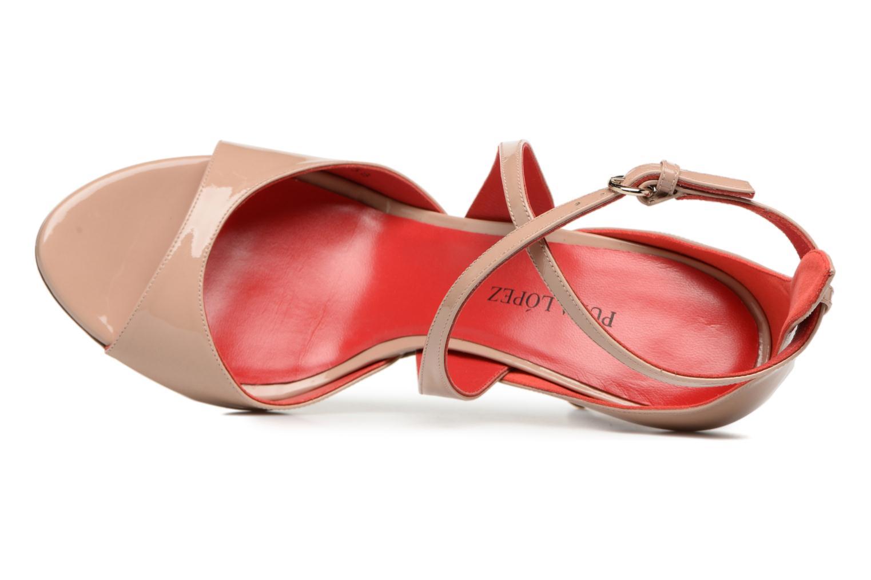 Sandali e scarpe aperte Pura Lopez Irina Beige immagine sinistra