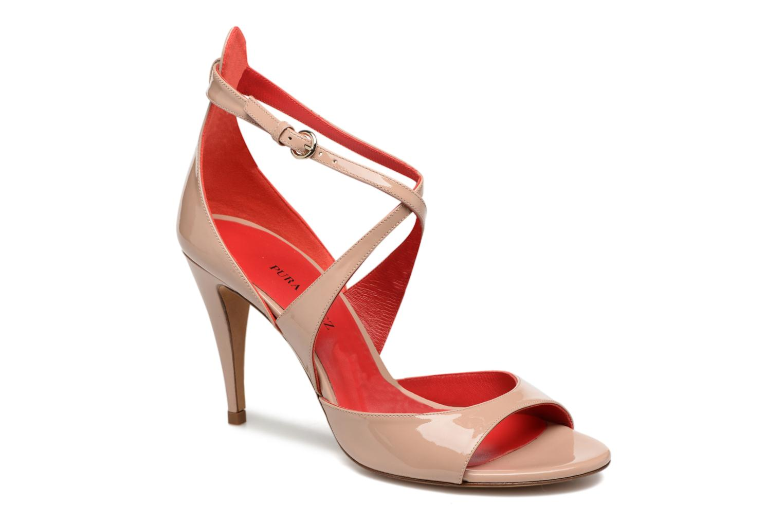 Sandaler Pura Lopez Irina Beige detaljeret billede af skoene