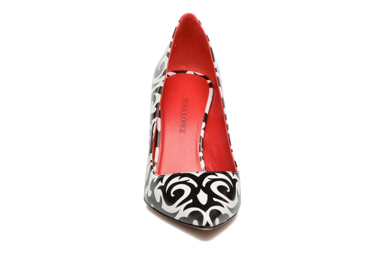 Escarpins Pura Lopez Reika Multicolore vue portées chaussures