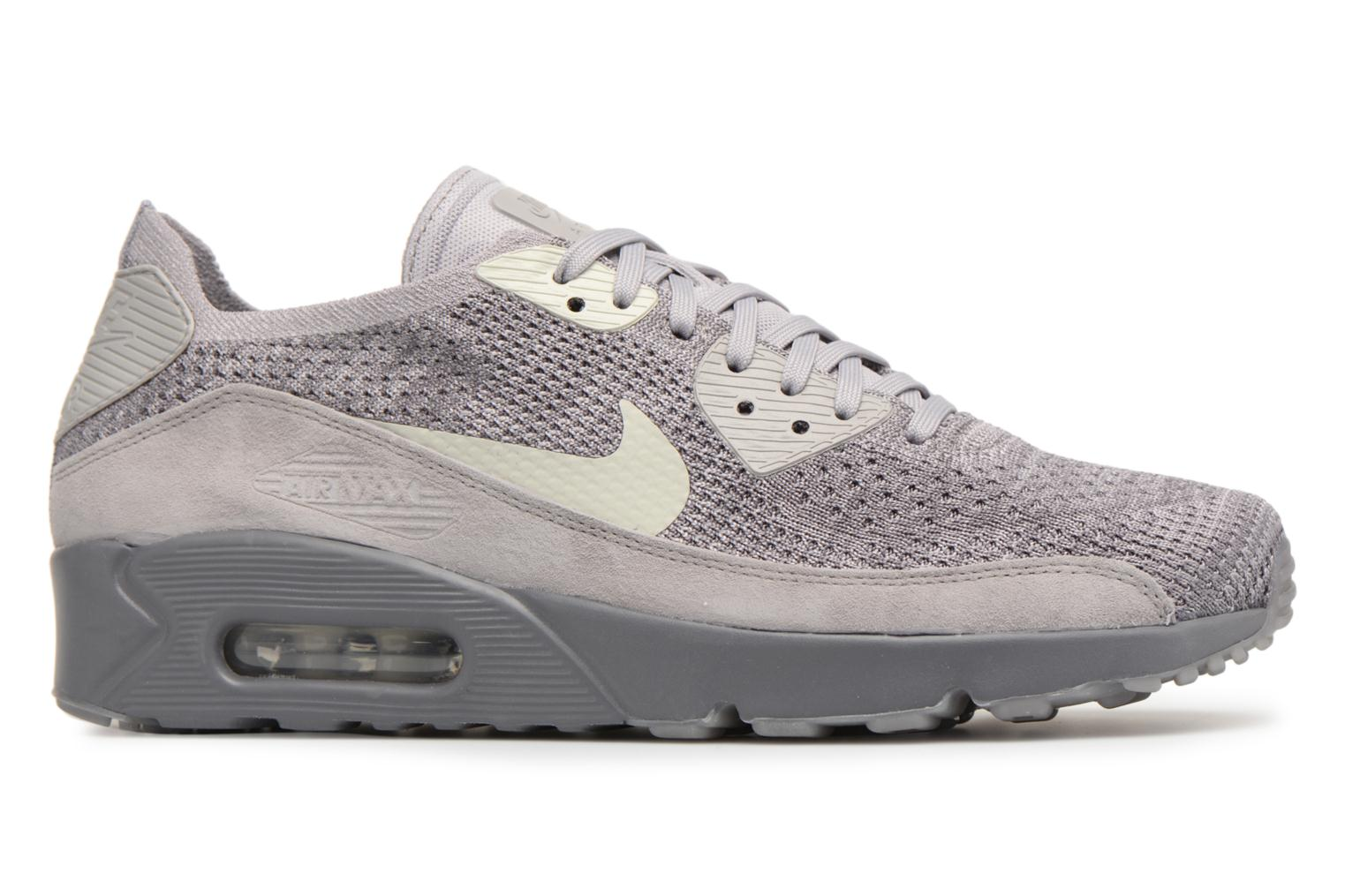 Trainers Nike Air Max 90 Ultra 2.0 Flyknit Grey back view