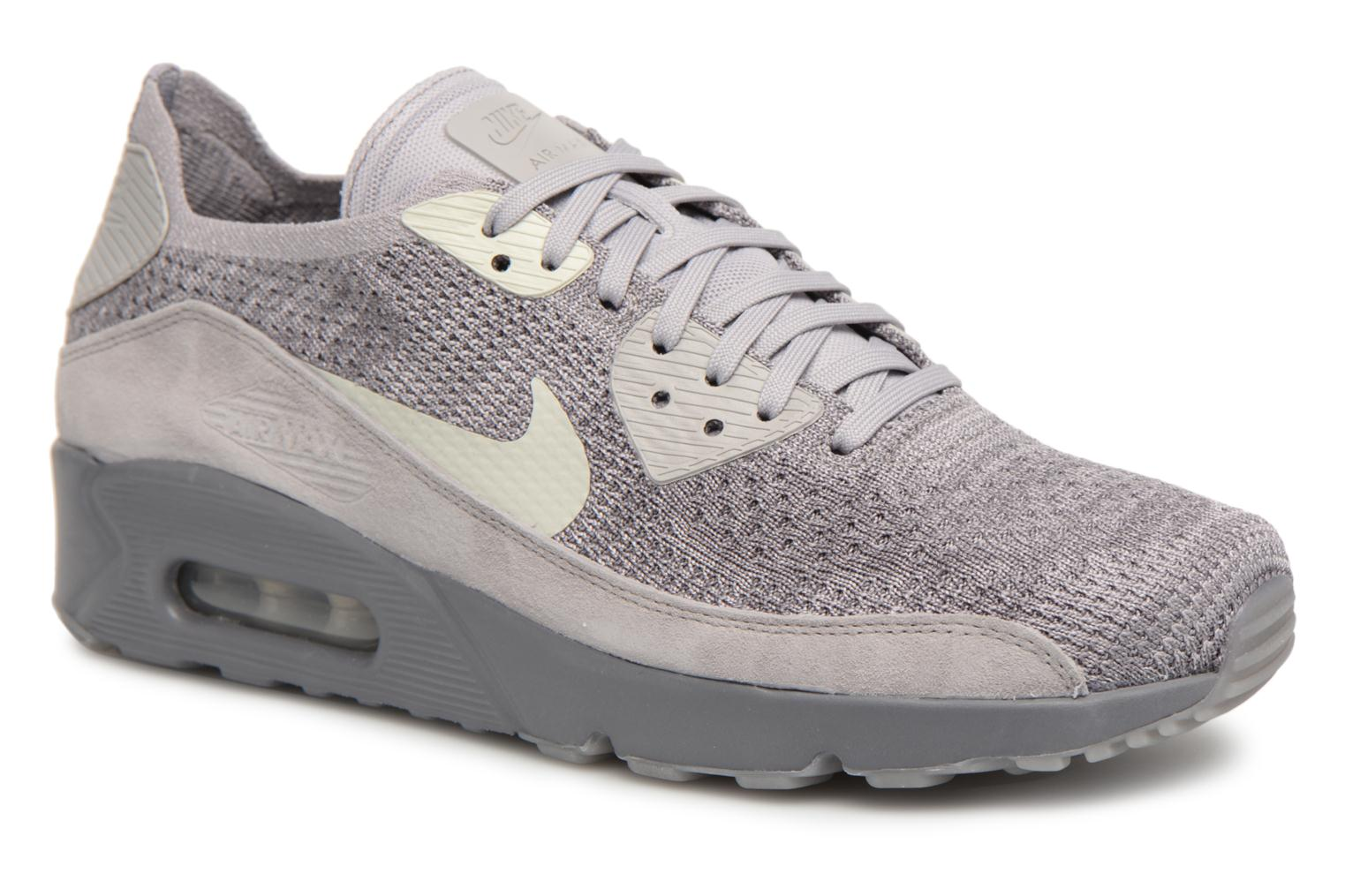 Trainers Nike Air Max 90 Ultra 2.0 Flyknit Grey detailed view/ Pair view