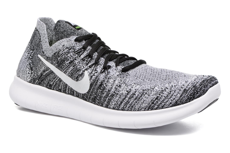 Nike Free Rn Flyknit 2017 Black White Volt