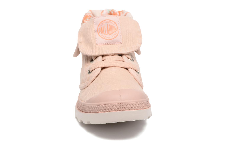 Baskets Palladium Baggy Lp Tw P F Rose vue portées chaussures