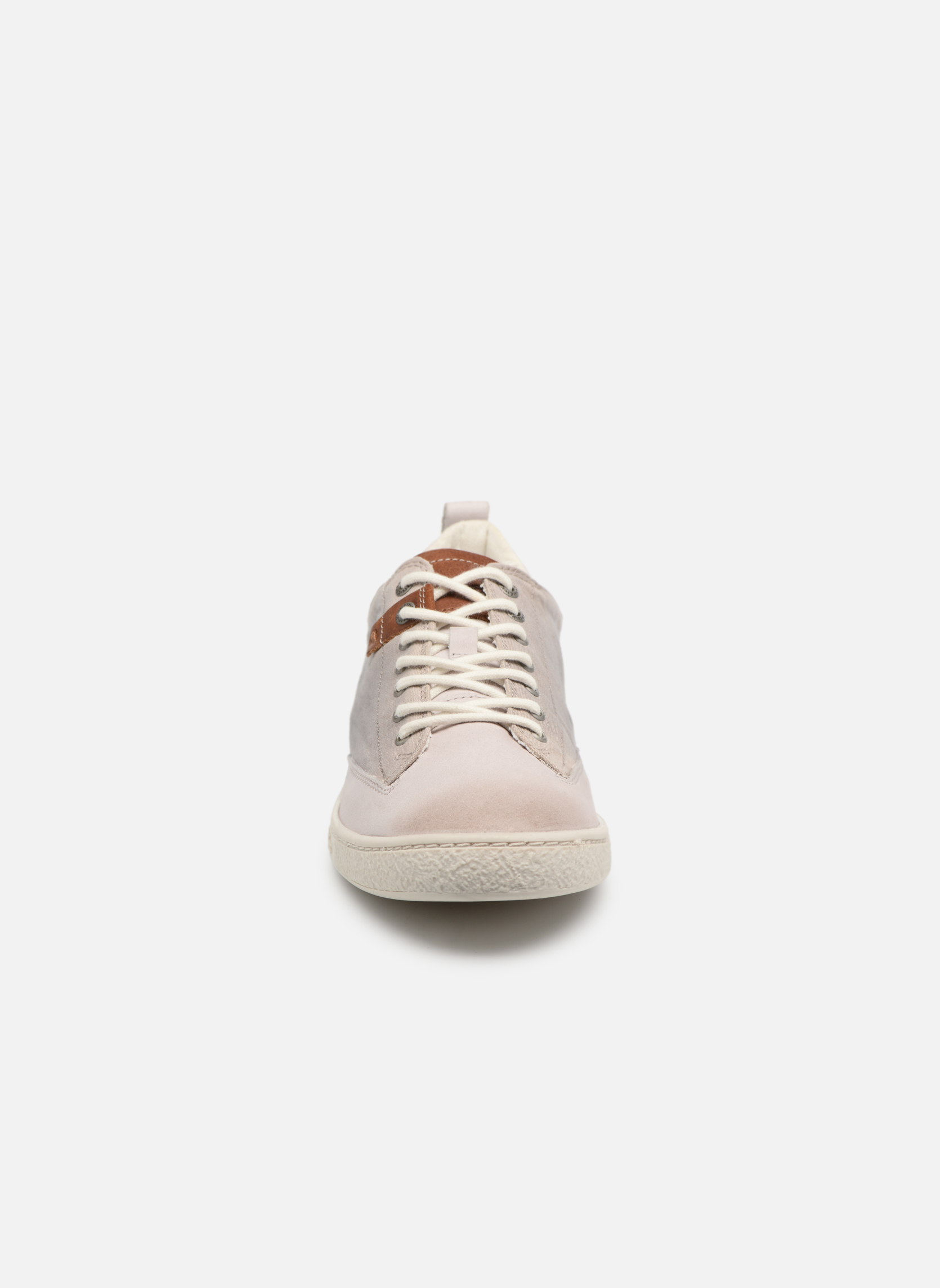 Baskets Kickers Santa Fe Blanc vue portées chaussures