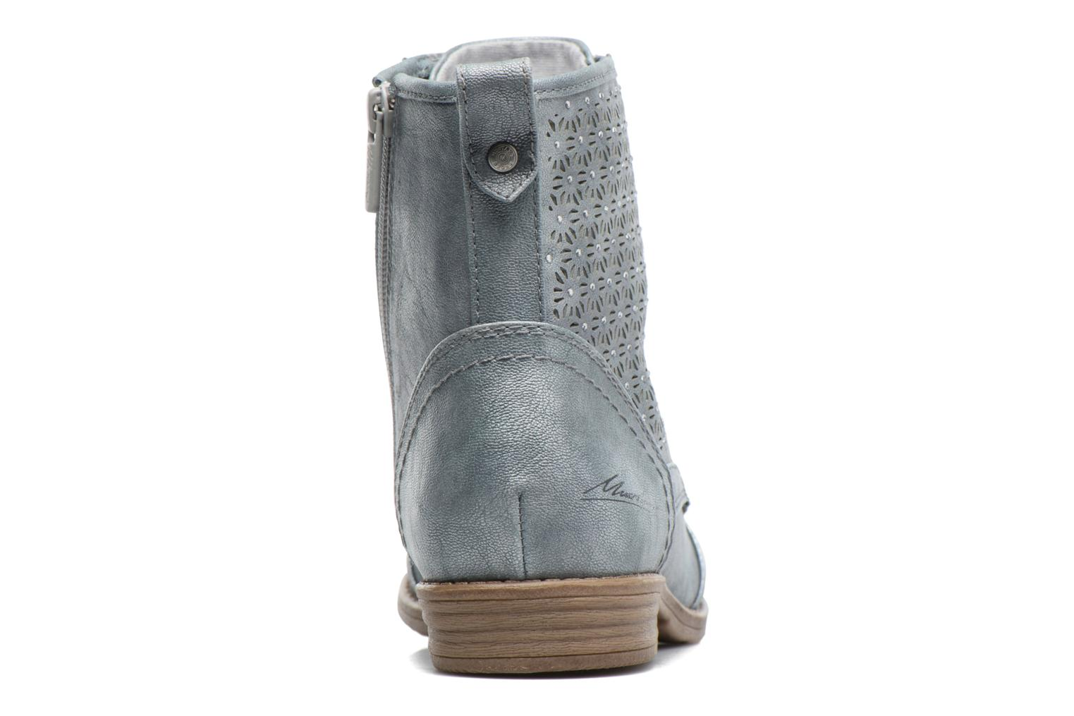Ankle boots Mustang shoes Chiara Grey view from the right
