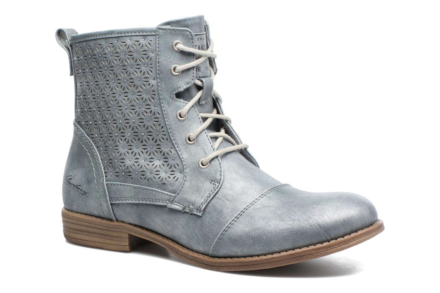 Ankle boots Mustang shoes Chiara Grey detailed view/ Pair view