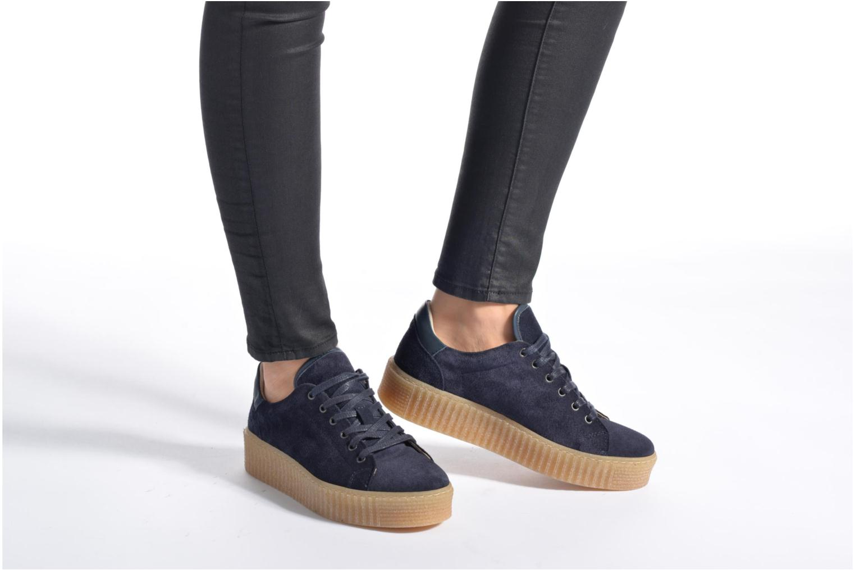 Baskets Mustang shoes Cara Beige vue bas / vue portée sac
