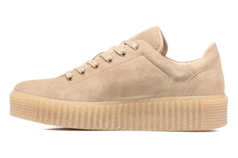 Sneaker Mustang shoes Cara beige ansicht von vorne