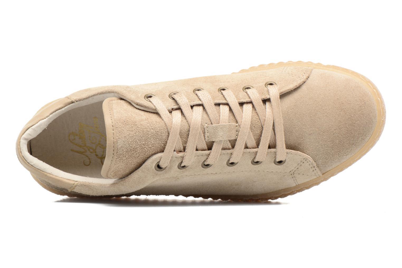 Sneaker Mustang shoes Cara beige ansicht von links