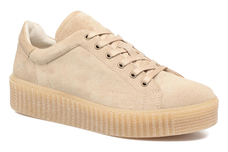 Baskets Mustang shoes Cara Beige vue détail/paire