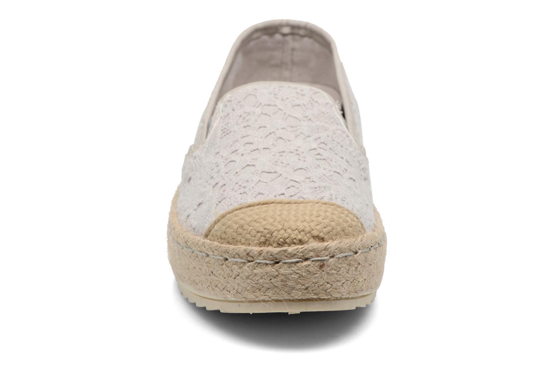 Scarpe di corda Mustang shoes Liese Grigio modello indossato