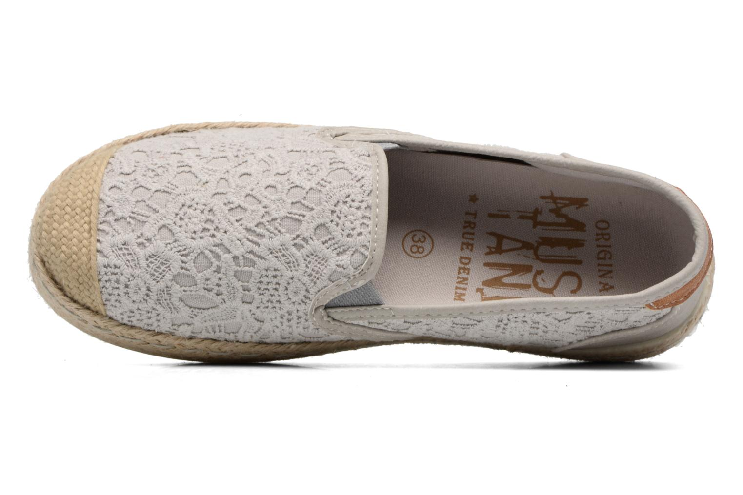 Espadrilles Mustang shoes Liese Grey view from the left
