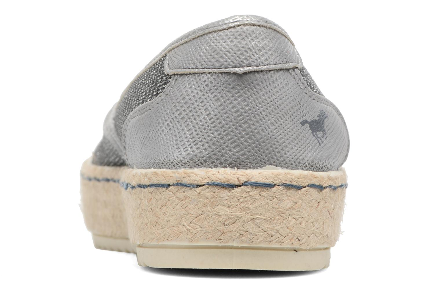 Espadrilles Mustang shoes Silke Grey view from the right