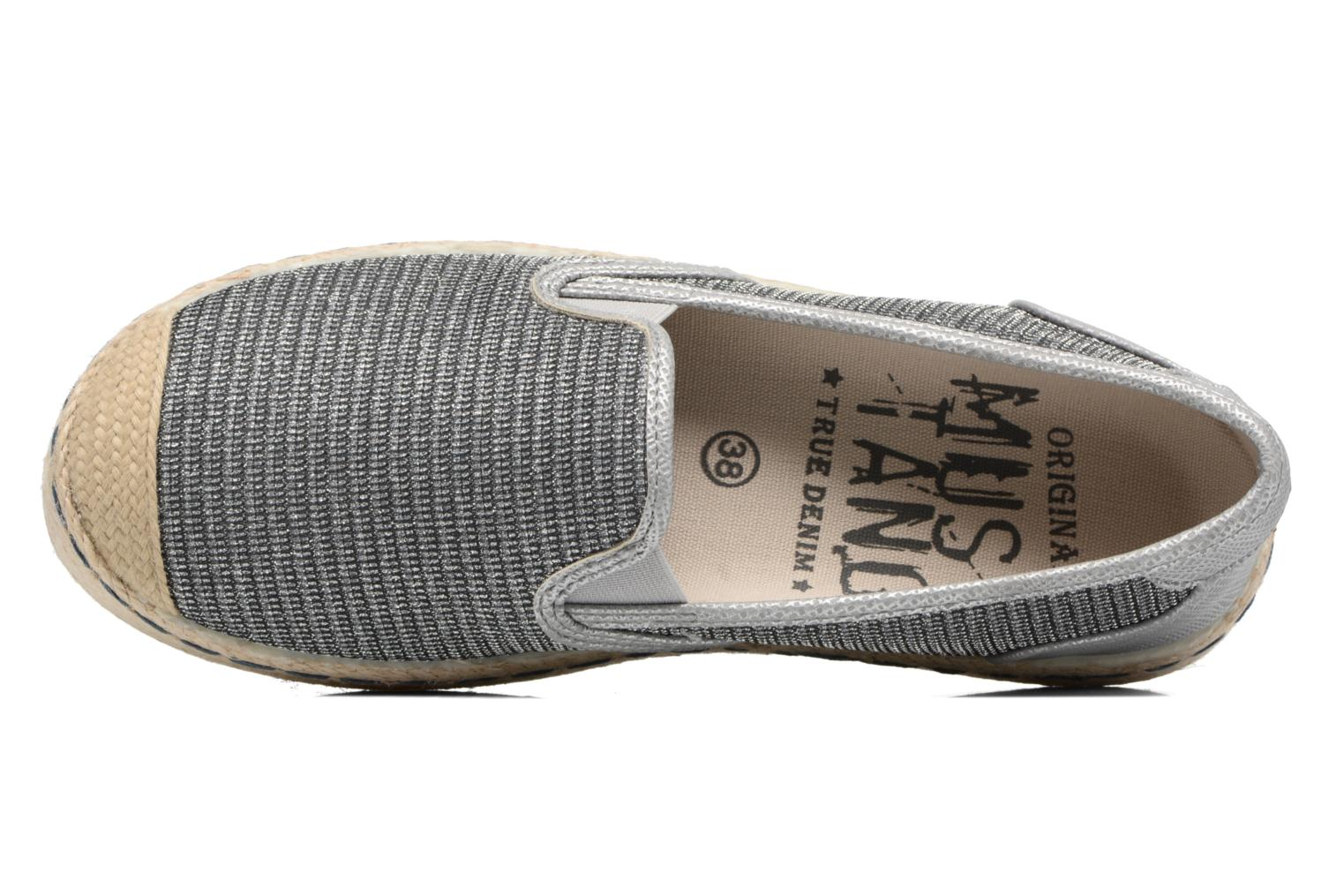 Espadrilles Mustang shoes Silke Grey view from the left