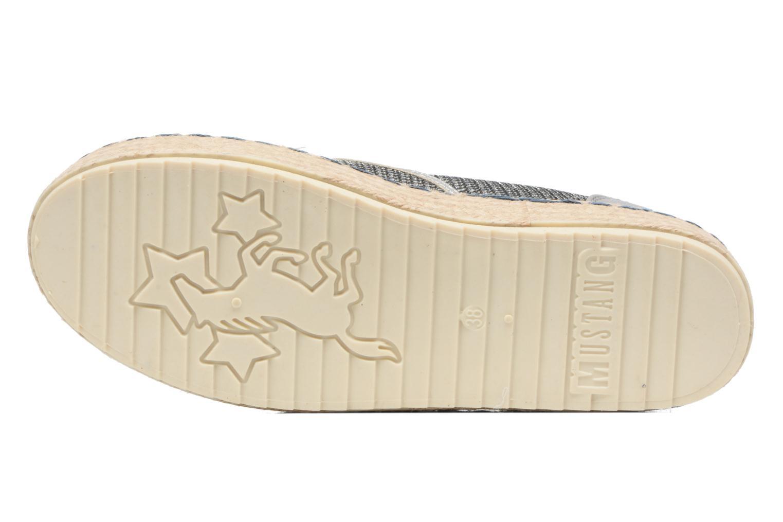 Espadrilles Mustang shoes Silke Gris vue haut