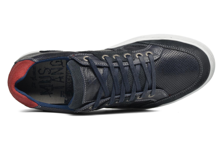 Baskets Mustang shoes Bruder Bleu vue gauche