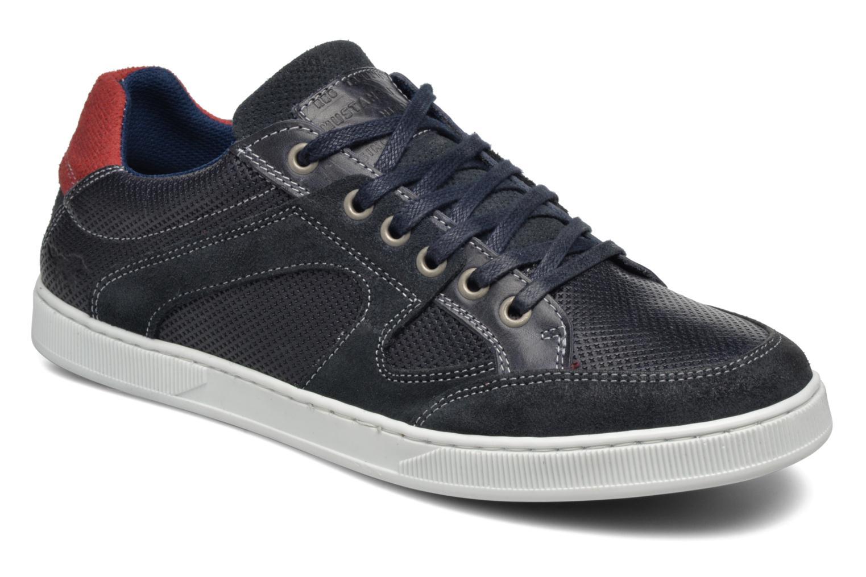 Baskets Mustang shoes Bruder Bleu vue détail/paire