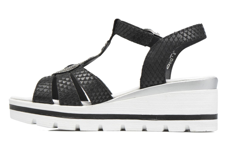 Sandales et nu-pieds Remonte Maya D1550 Noir vue face