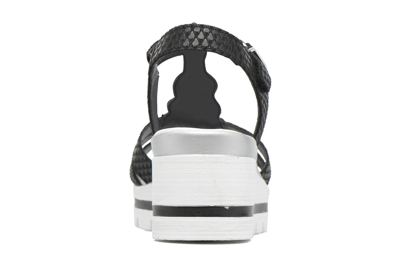Sandales et nu-pieds Remonte Maya D1550 Noir vue droite