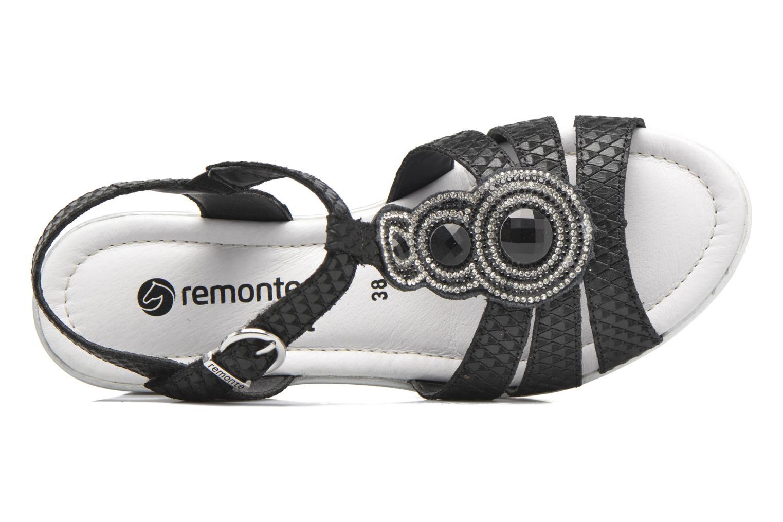 Sandales et nu-pieds Remonte Maya D1550 Noir vue gauche