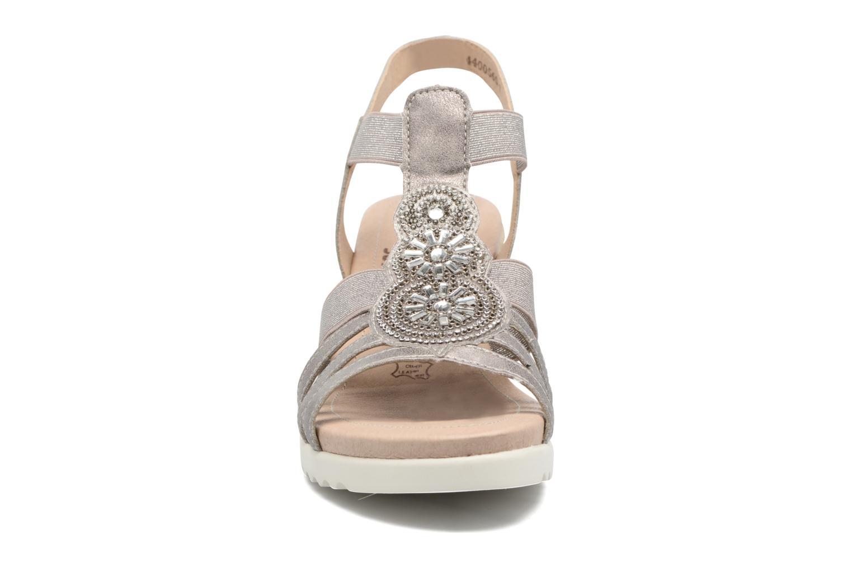 Sandales et nu-pieds Remonte Liu D3453 Gris vue portées chaussures