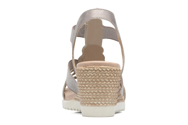 Sandales et nu-pieds Remonte Liu D3453 Gris vue droite