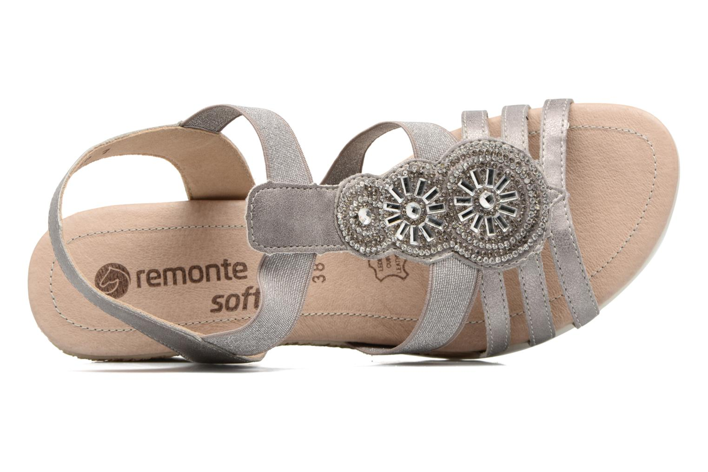 Sandales et nu-pieds Remonte Liu D3453 Gris vue gauche