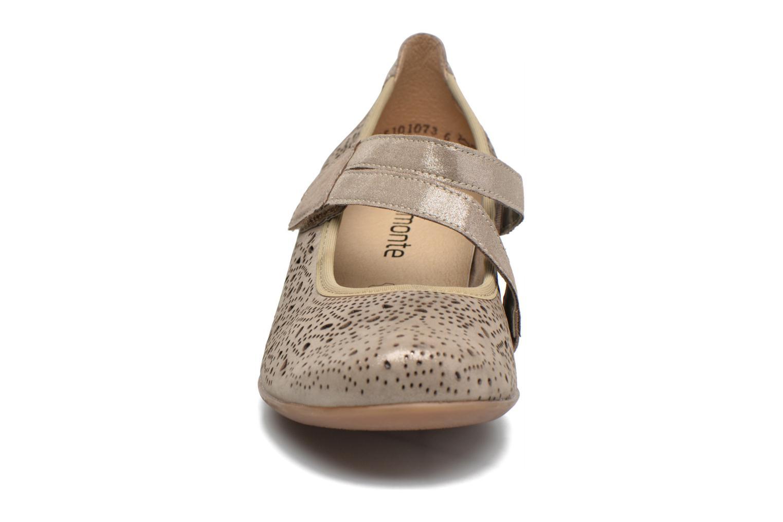 Escarpins Remonte Lina D5006 Or et bronze vue portées chaussures