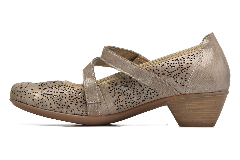 Zapatos de tacón Remonte Lina D5006 Oro y bronce vista de frente
