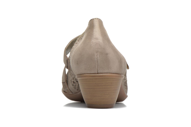 Zapatos de tacón Remonte Lina D5006 Oro y bronce vista lateral derecha