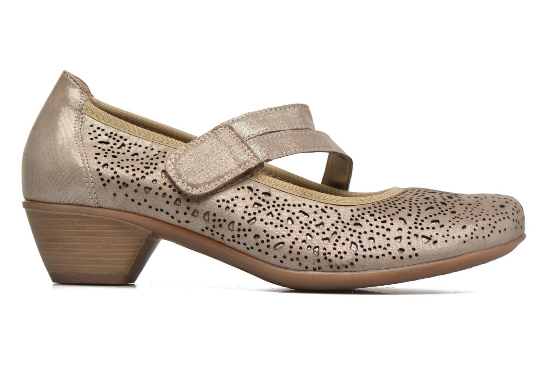 Zapatos de tacón Remonte Lina D5006 Oro y bronce vistra trasera