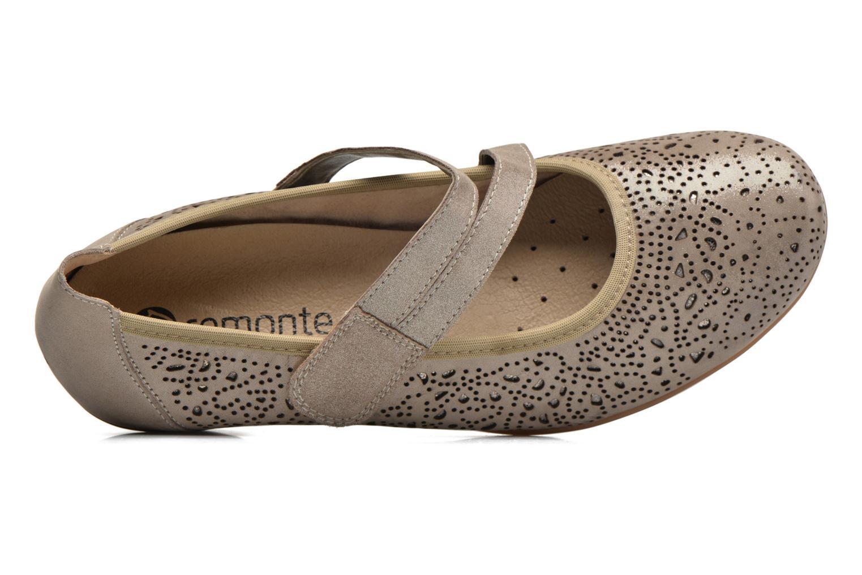 Zapatos de tacón Remonte Lina D5006 Oro y bronce vista lateral izquierda