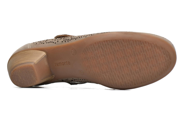 Zapatos de tacón Remonte Lina D5006 Oro y bronce vista de arriba