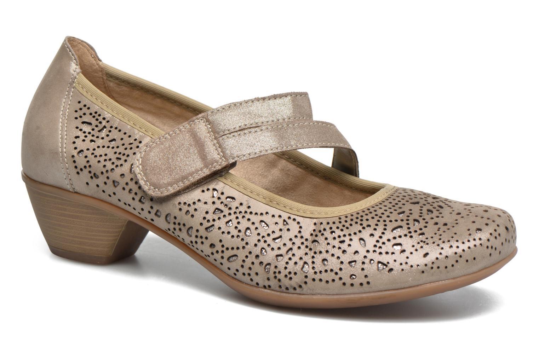 Zapatos de tacón Remonte Lina D5006 Oro y bronce vista de detalle / par