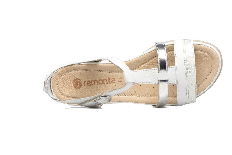 Sandales et nu-pieds Remonte Rena R7451 Blanc vue gauche