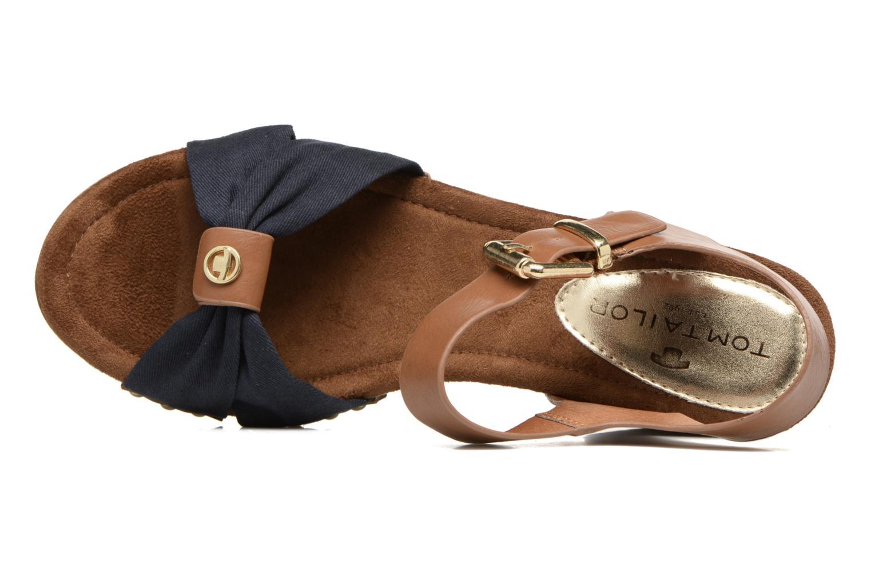 Sandali e scarpe aperte Tom Tailor Monica Azzurro immagine sinistra
