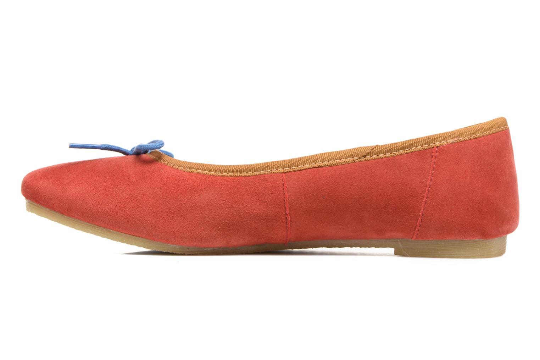 Ballerinas Kickers Baie rot ansicht von vorne
