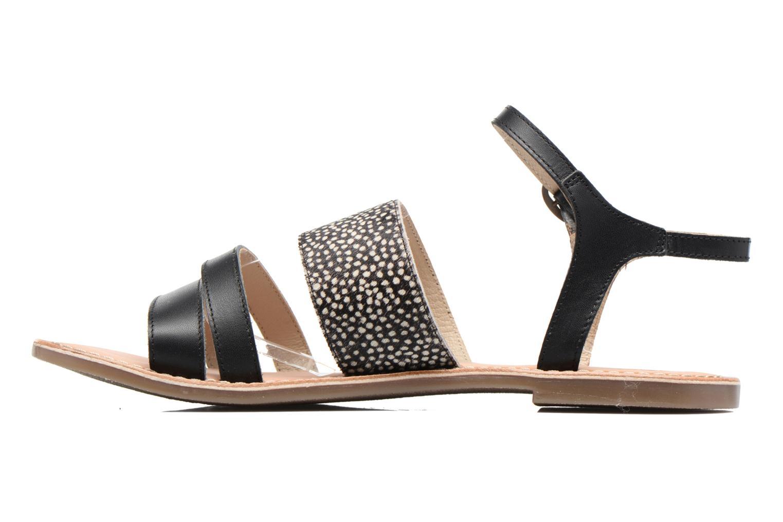 Sandalen Kickers Divatte schwarz ansicht von vorne