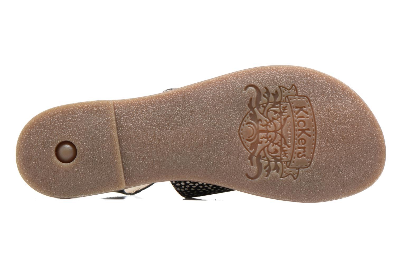 Sandalen Kickers Divatte schwarz ansicht von oben