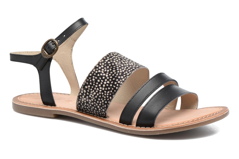 Sandaler Kickers Divatte Sort detaljeret billede af skoene