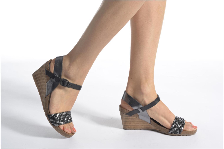 Sandales et nu-pieds Kickers Splendid Marron vue bas / vue portée sac