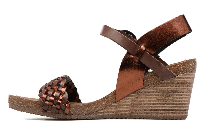 Sandalen Kickers Splendid Bruin voorkant