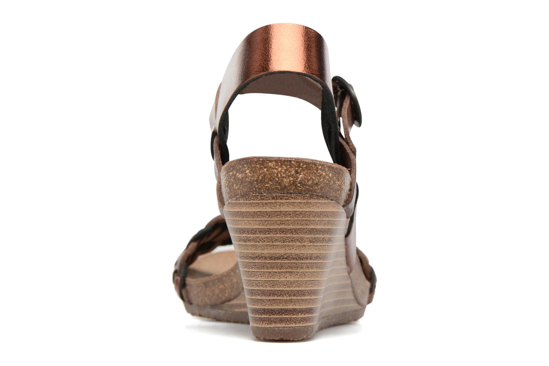 Sandales et nu-pieds Kickers Splendid Marron vue droite