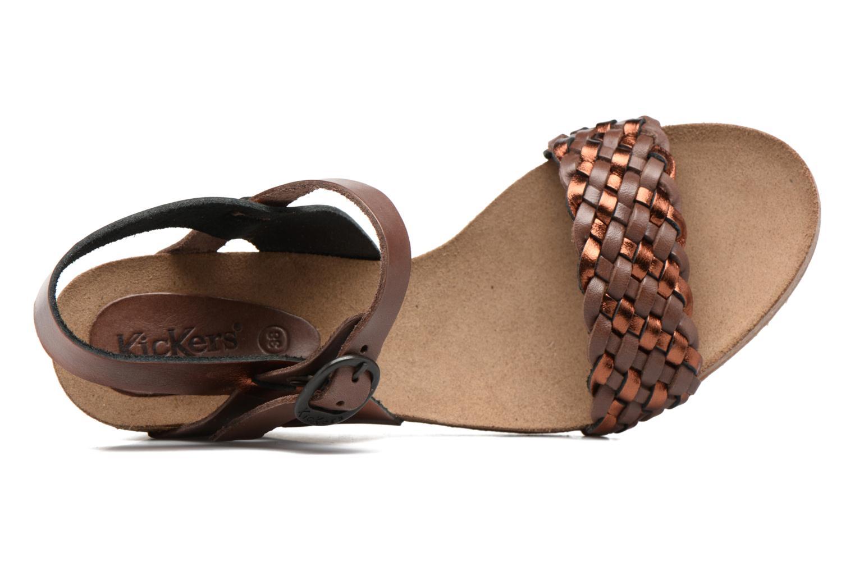 Sandales et nu-pieds Kickers Splendid Marron vue gauche