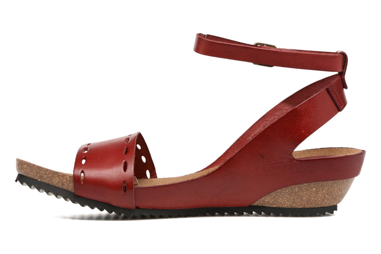 Sandalen Kickers Tokrom rot ansicht von vorne