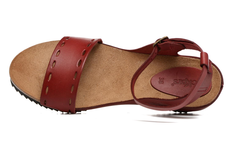 Sandalen Kickers Tokrom rot ansicht von links