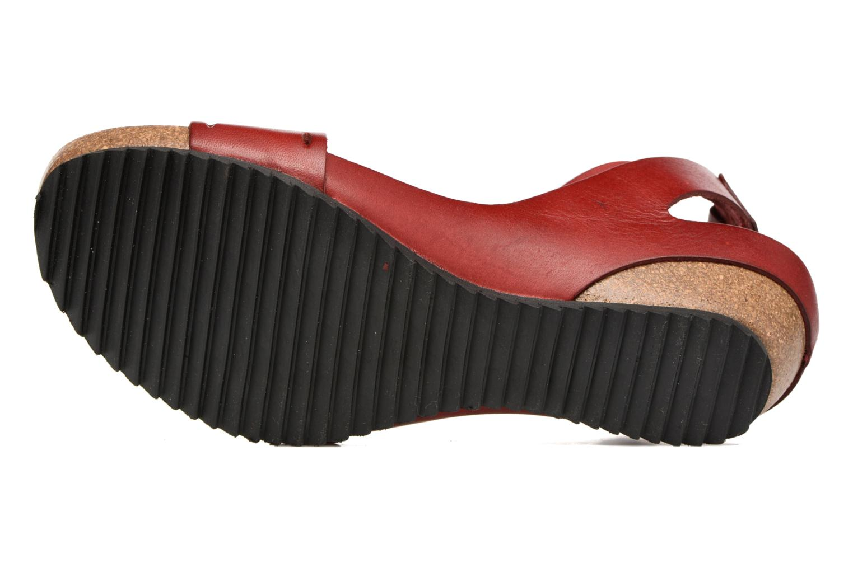 Sandales et nu-pieds Kickers Tokrom Rouge vue haut
