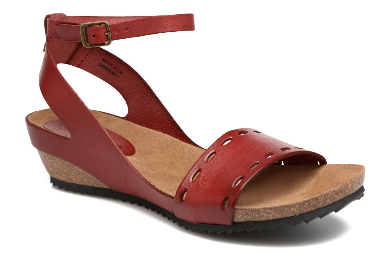 Sandales et nu-pieds Kickers Tokrom Rouge vue détail/paire